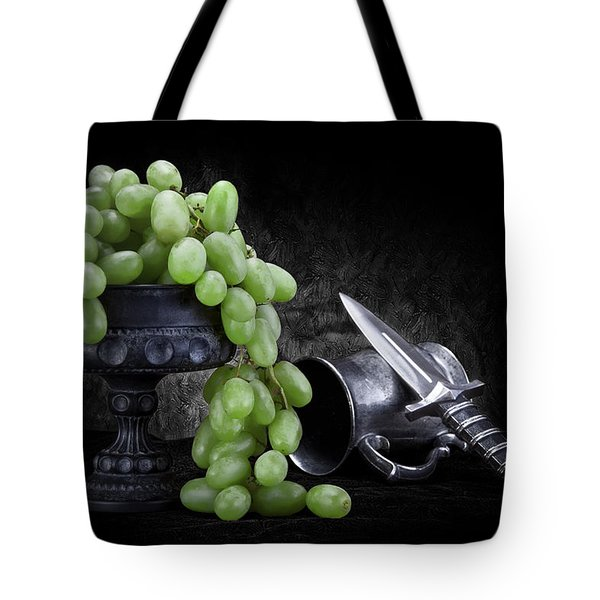 Grapes Of Wrath Still Life Tote Bag by Tom Mc Nemar