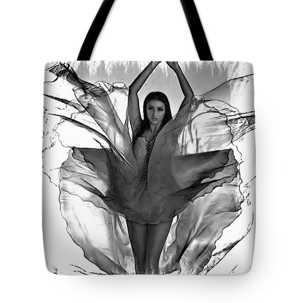 Graphic Angel Tote Bag by M and L Creations
