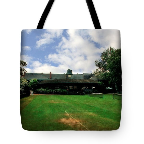 Grass Courts at the Hall of Fame Tote Bag by Michelle Calkins