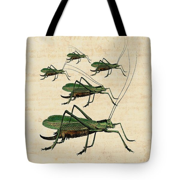 Grasshopper Parade Tote Bag by Antique Images