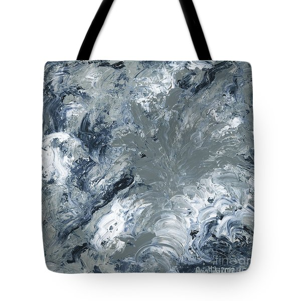 Gray Color Of Energy Tote Bag by Ania Milo
