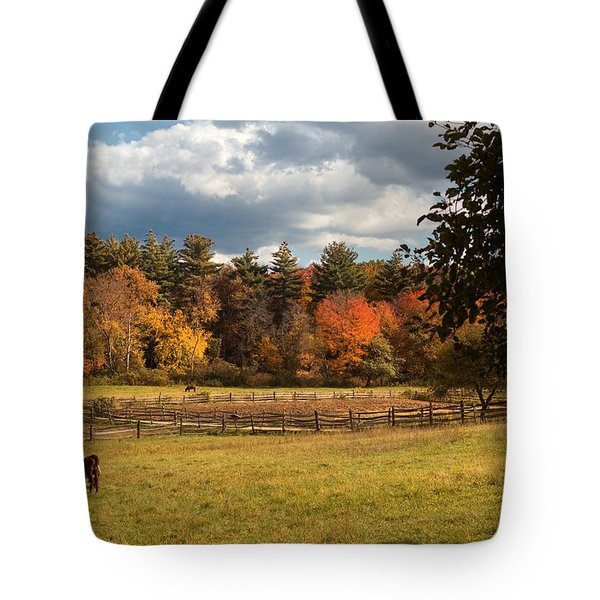 Grazing on the Farm Tote Bag by Joann Vitali