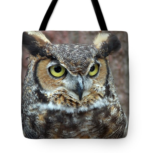 GREAT AND HORNED Tote Bag by Skip Willits