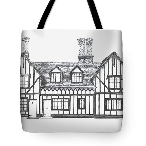 Great Bardfield St Johns Terrace Tote Bag by Shirley Miller
