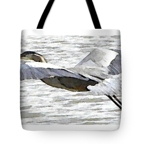 Great Blue Flight Tote Bag by John Goyer