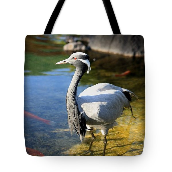 Great Blue Heron Tote Bag by Cheryl Young