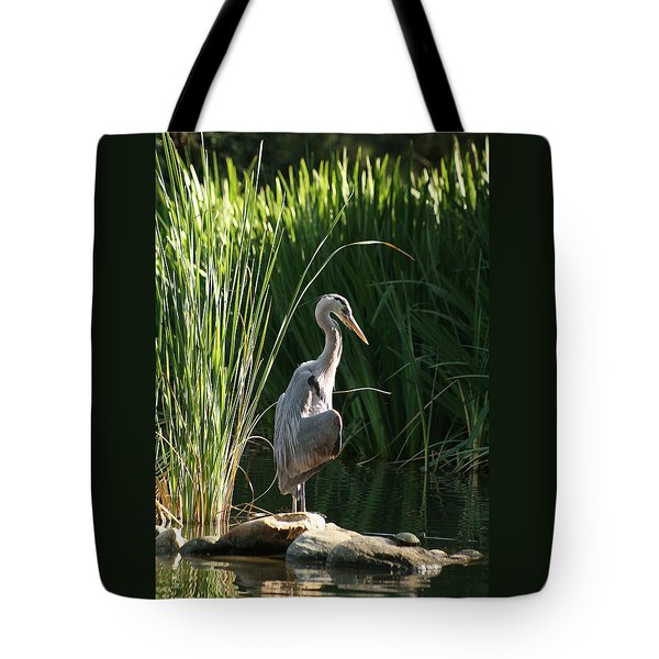 Great Blue Heron Tote Bag by Ellen Henneke