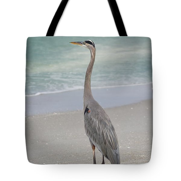 Great Blue Heron Tote Bag by Kim Hojnacki