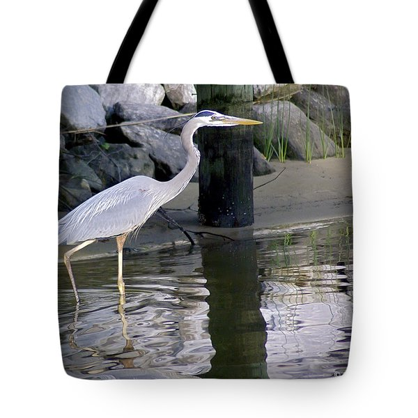 Great Blue Heron - Mealtime Tote Bag by Brian Wallace