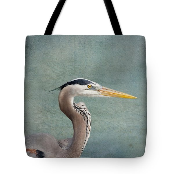 Great Blue Heron - Profile Tote Bag by Kim Hojnacki