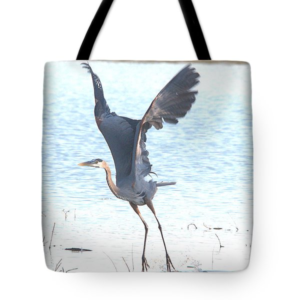 Great Blue Lift Off Series 1 Tote Bag by Roy Williams