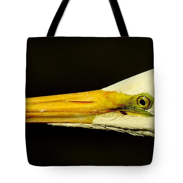 Great Egret Head Tote Bag by Robert Frederick