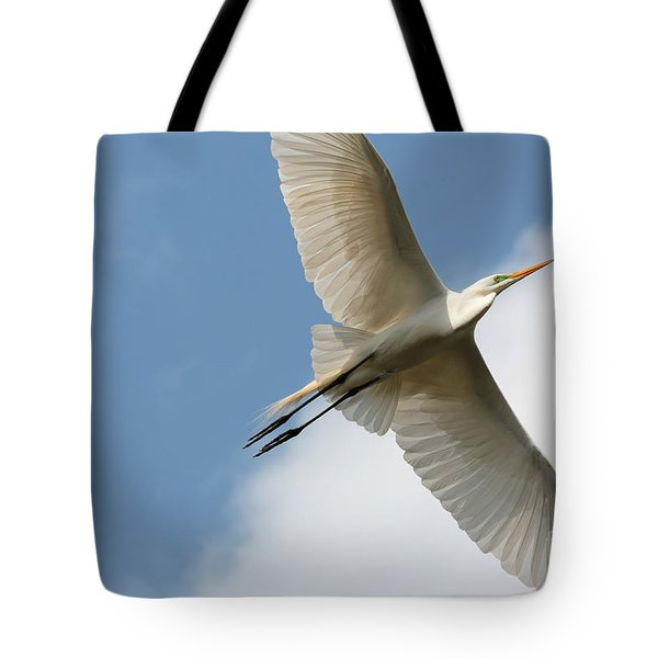 Great Egret Overhead Tote Bag by Carol Groenen