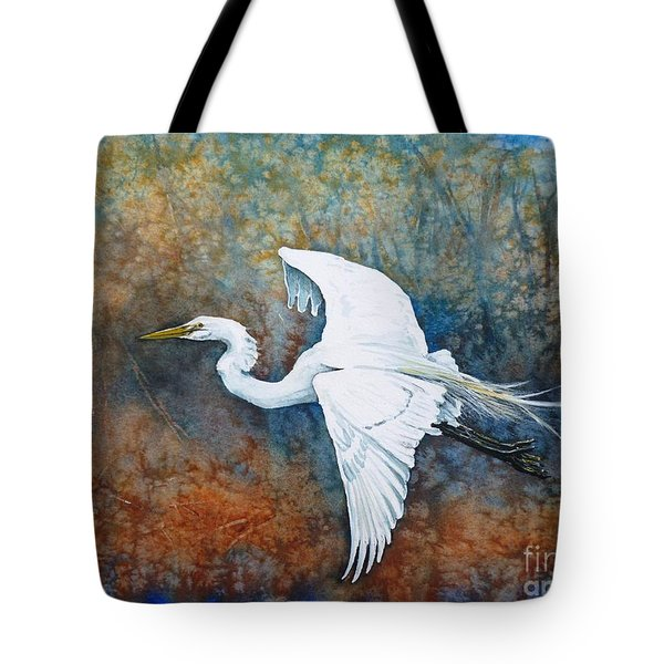 Great Egret  Tote Bag by Zaira Dzhaubaeva