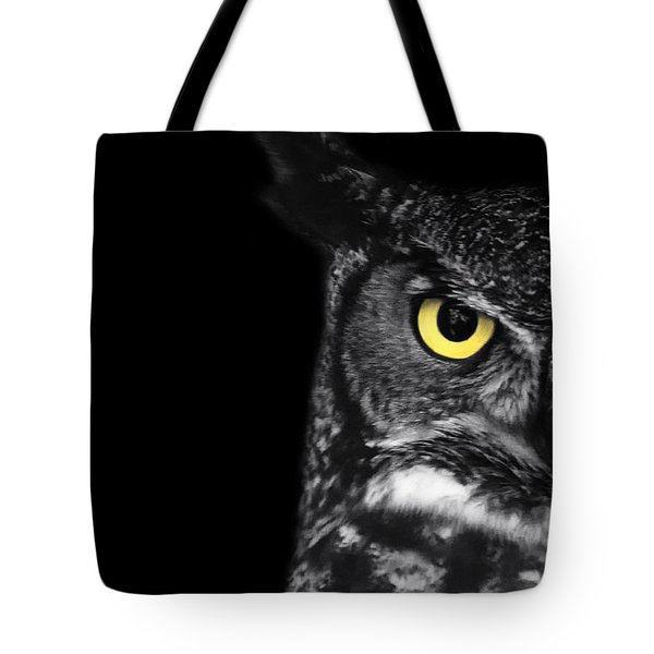 Great Horned Owl Photo Tote Bag by Stephanie McDowell