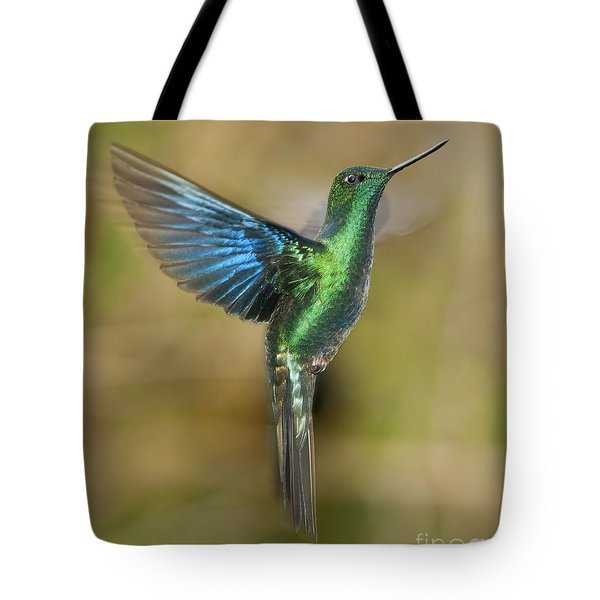 Great Sapphirewing Hummingbird Tote Bag by Dan Suzio