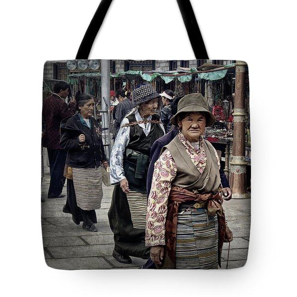 Great Weathered Faces Tote Bag by Joan Carroll