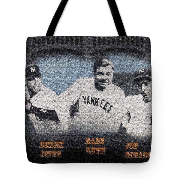 Greatest Yanks Ever Tote Bag by Dan Haraga