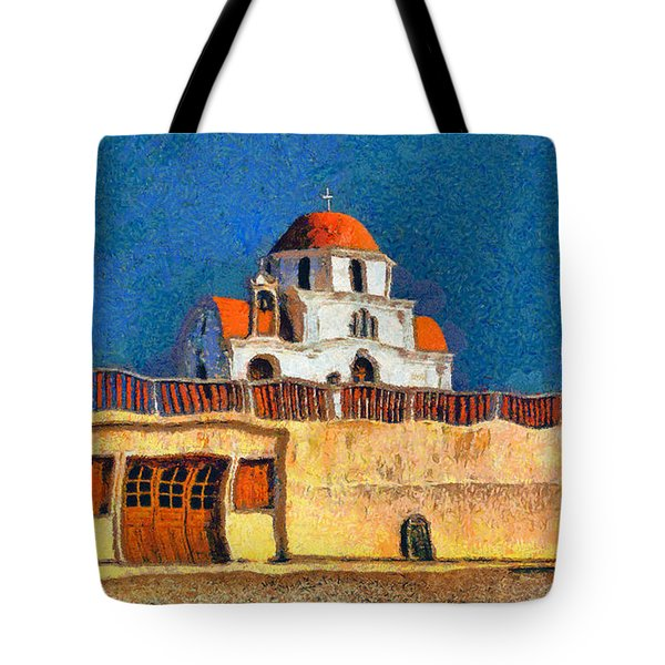 Greek Church 7 Tote Bag by George Rossidis