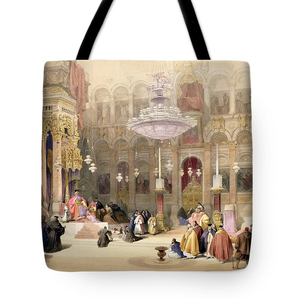 Greek Church Of The Holy Sepulchre Tote Bag by David Roberts