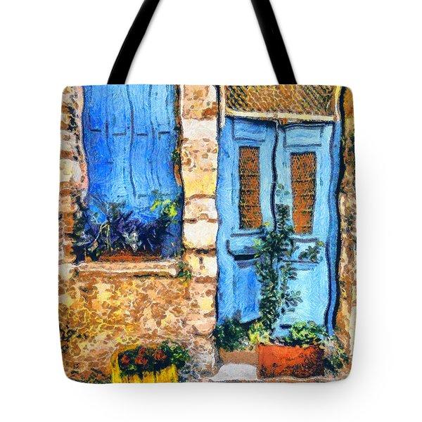 Greek House 66 Tote Bag by George Rossidis