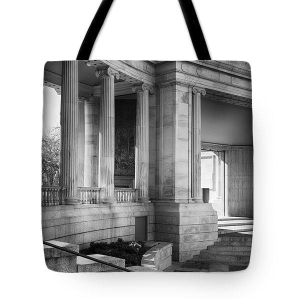 Greek Theatre 7 Bw Tote Bag by Angelina Vick