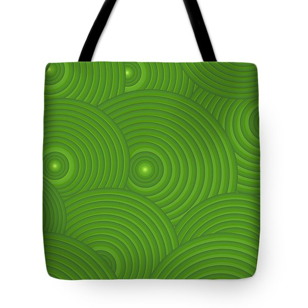 Green Abstract Tote Bag by Frank Tschakert