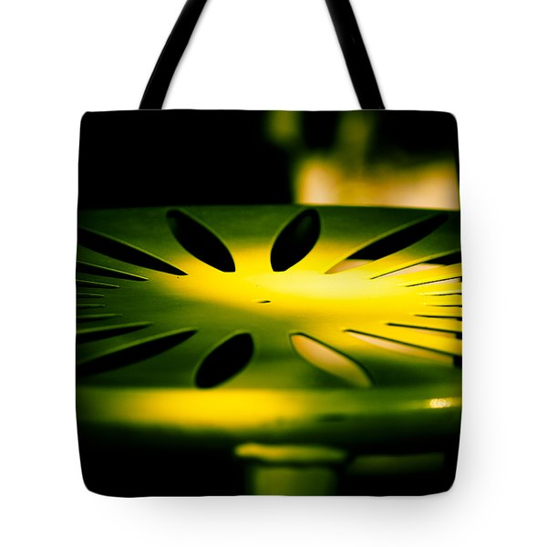 Green and Gold Tote Bag by Christi Kraft
