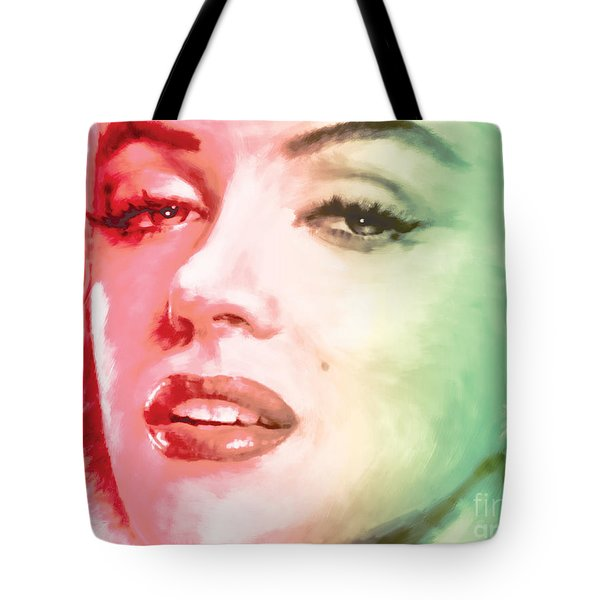 green and red beauty Tote Bag by ATIKETTA SANGASAENG