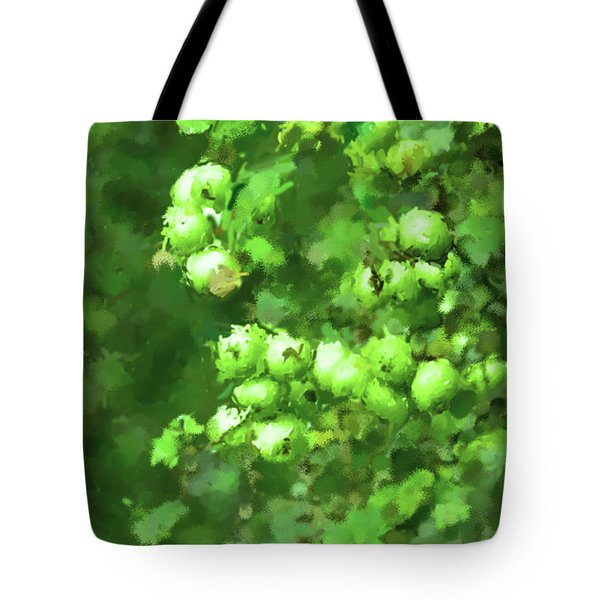 Green Apple On A Branch Tote Bag by Toppart Sweden