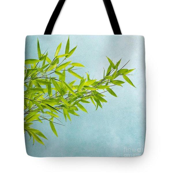 green bamboo Tote Bag by Priska Wettstein