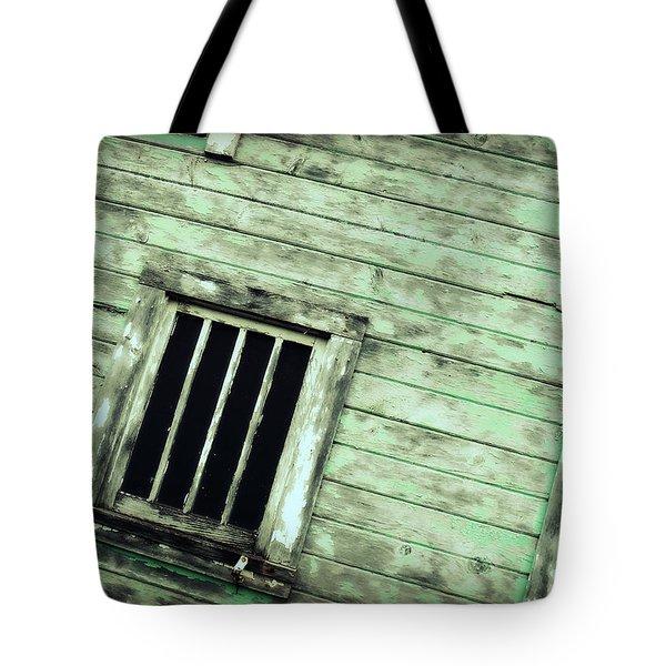 Green Barn Up Close Tote Bag by Julie Hamilton