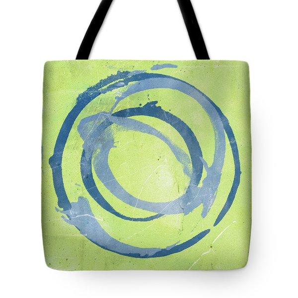 Green Blue Tote Bag by Julie Niemela
