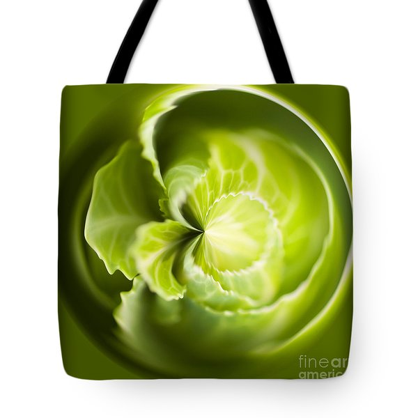 Green Cabbage Orb Tote Bag by Anne Gilbert