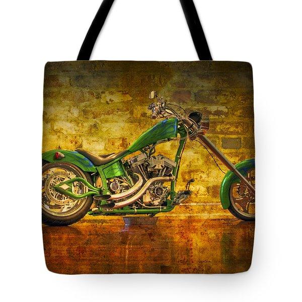 Green Chopper Tote Bag by Debra and Dave Vanderlaan