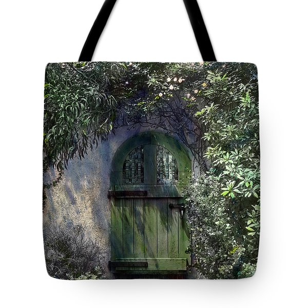 Green Door Tote Bag by Terry Reynoldson