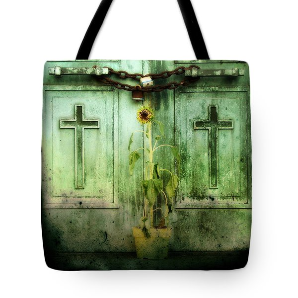 Green Doors Tote Bag by Gothicolors Donna Snyder