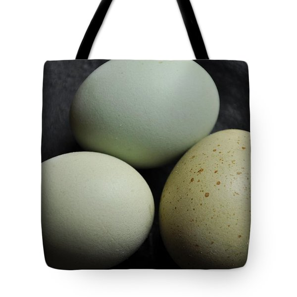 Green Eggs Tote Bag by Cheryl Baxter