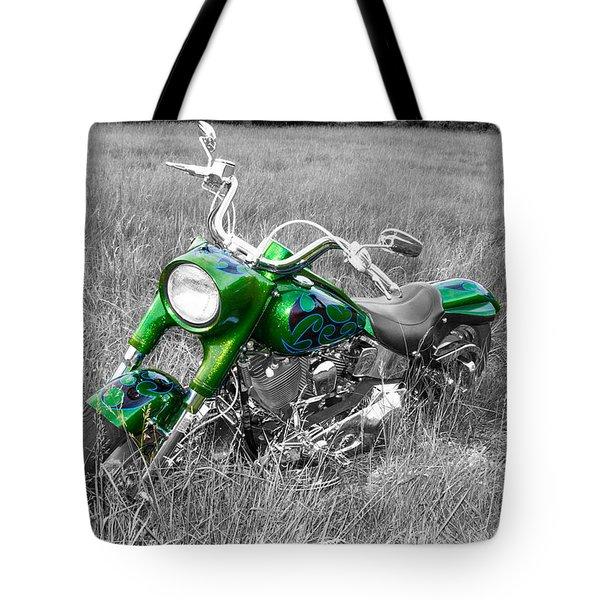 Green Fat Boy Tote Bag by Guy Whiteley