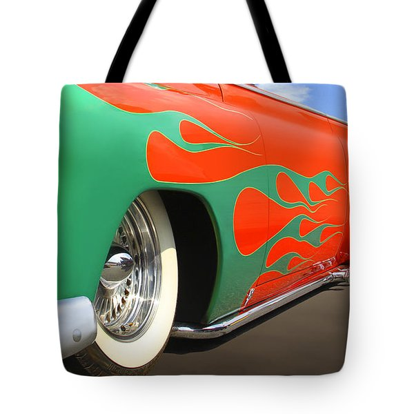 Green Flames Tote Bag by Mike McGlothlen