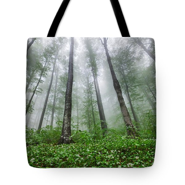 Green Giants Tote Bag by Evgeni Dinev