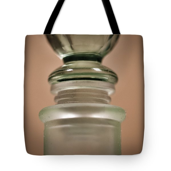 Green Glass Bottle Tote Bag by Christi Kraft