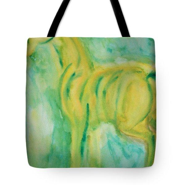 green hope Tote Bag by Hilde Widerberg