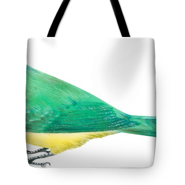 Green Jay Tote Bag by Anonymous