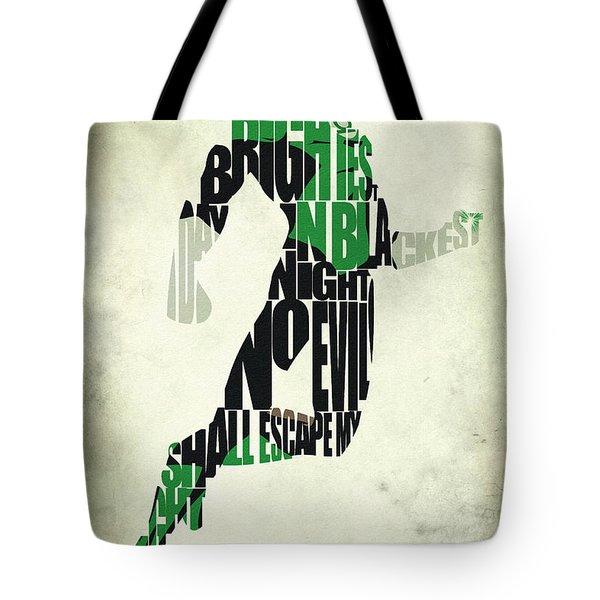 Green Lantern Tote Bag by Ayse Deniz