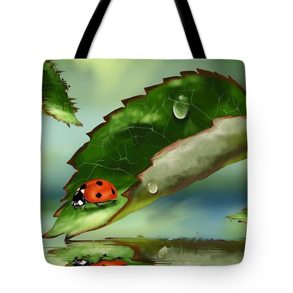 Green Leaf Tote Bag by Veronica Minozzi