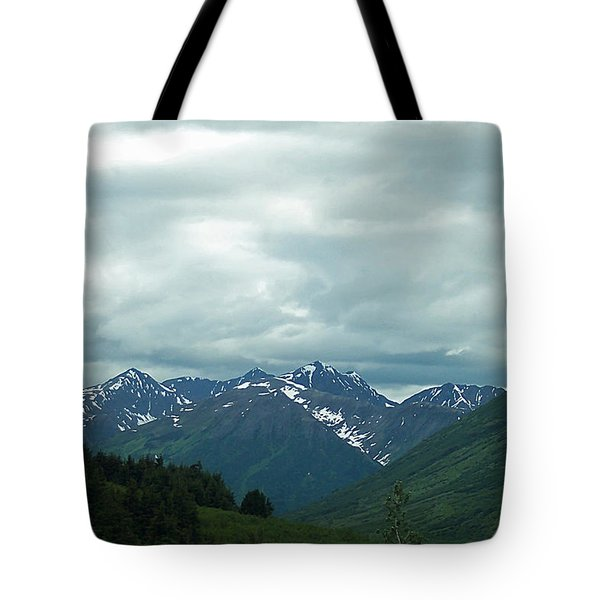 Green Pastures And Mountain Views Tote Bag by Aimee L Maher Photography and Art