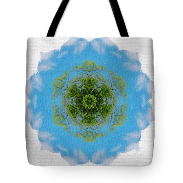 Green Planet Tote Bag by Jeff Kolker