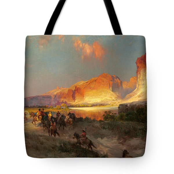 Green River Cliffs Wyoming Tote Bag by Thomas Moran
