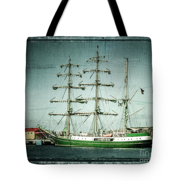 Green Sail Tote Bag by Perry Webster